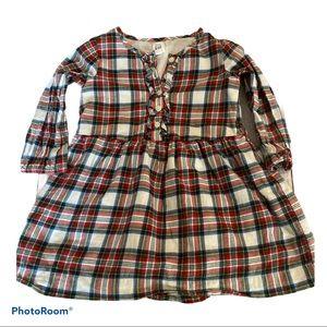 Baby Gap Plaid Dress with Ruffles